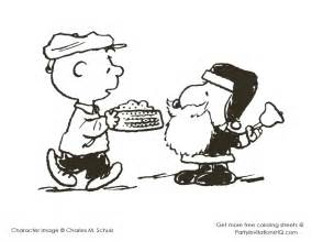 Snoopy and charlie brown christmas coloring pages