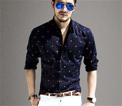 new mens designer print shirt comfortable trendy