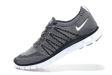 Nike Free Flyknit 5 0 nike free 5 0 flyknit mens running shoes grey black white