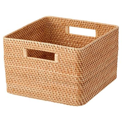 muji baskets rattan square basekt l stackable