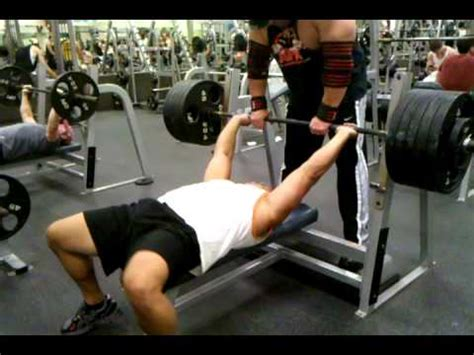 average nfl bench press 515 bench press raw 245 lbs youtube