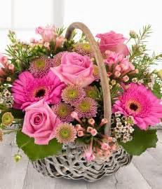 secret garden pink flower basket delivered same day