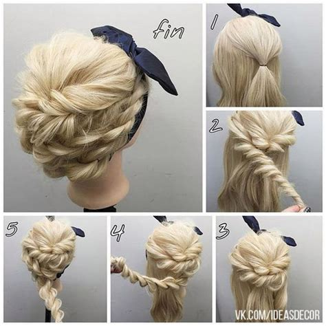 braids updo for short hairstep by step 60 easy step by step hair tutorials for long medium and