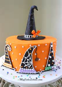 Halloween Cake Decor Witch Hats A Halloween Cake Decorating Tutorial My