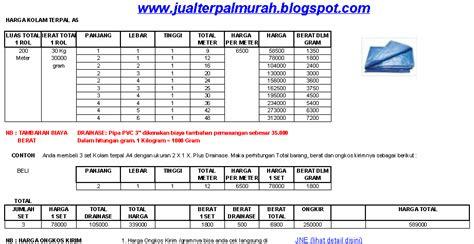 Terpal Plastik A5 6x8 Meter jual terpal murah daftar harga kolam terpal a5