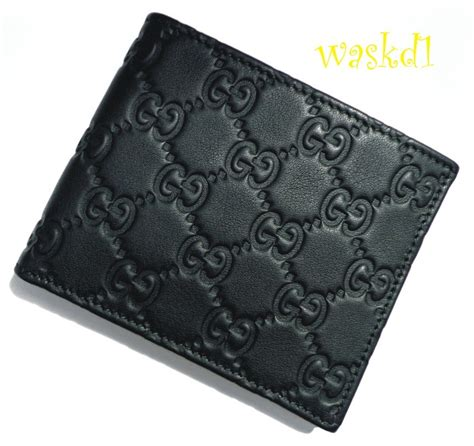 gucci leather wallet gucci mens black leather guccissima embossed bifold wallet nib authentic ebay