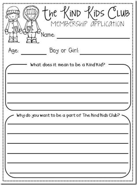 Kindness Worksheets by Club Ideas Preschool Ideas