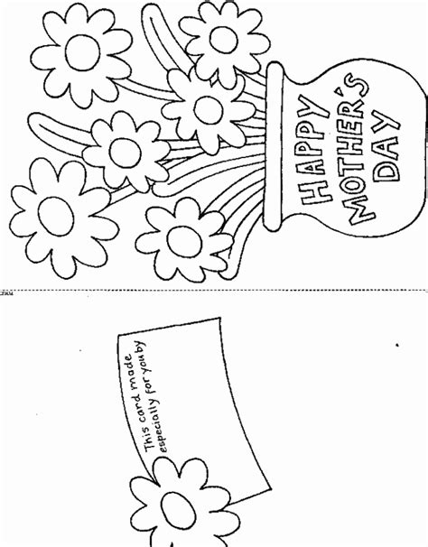 mothers day card templates to color free printable s day card coloring book