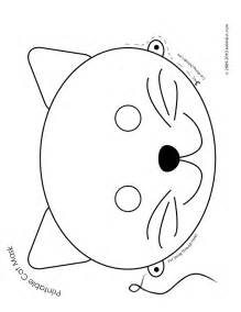 Printable Animal Masks Templates by Cat Mask Coloring Page Woo Jr Activities