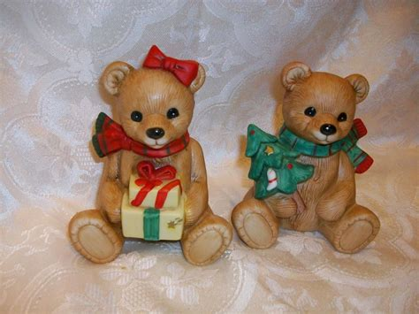 home interiors figurines vintage homco home interiors 5104 christmas decor bear