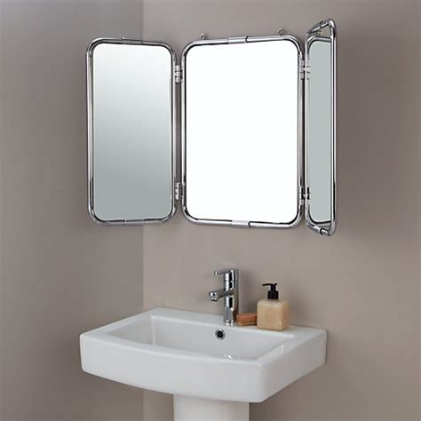 john lewis bathroom mirrors buy john lewis restoration triple bathroom wall mirror