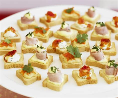 canape toppings canap 233 s with three toppings recipe food to