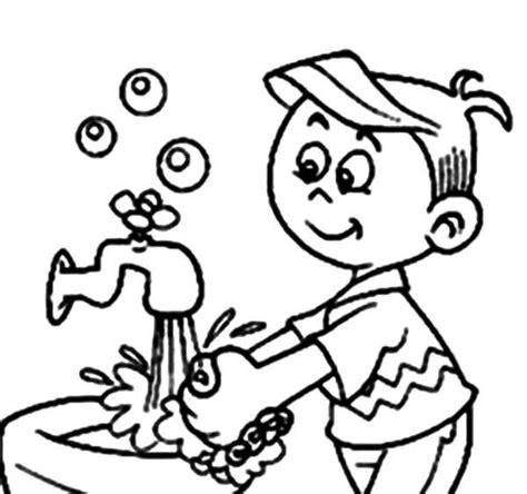 coloring pages personal hygiene ausmalbilder h 228 ndewaschen viren virenstop