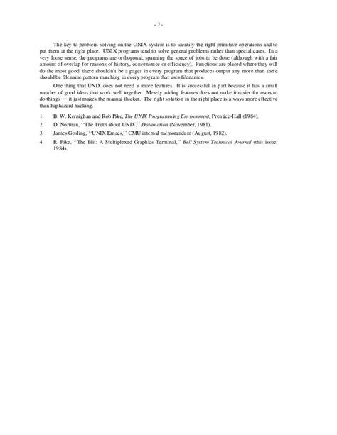 pattern programs in unix program design in the unix environment