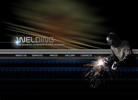 welding service flash website template best website