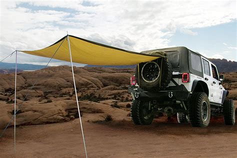 vehicle tents awnings smittybilt 5662424 smittybilt gear trail shade free