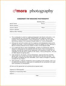 Photographer Contract Template by 10 Photographer Contract Template Writable Calendar
