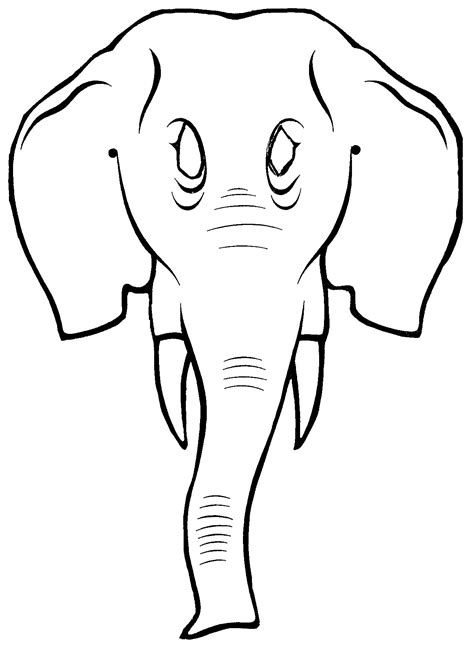 elephant mask coloring pages elephant mask template