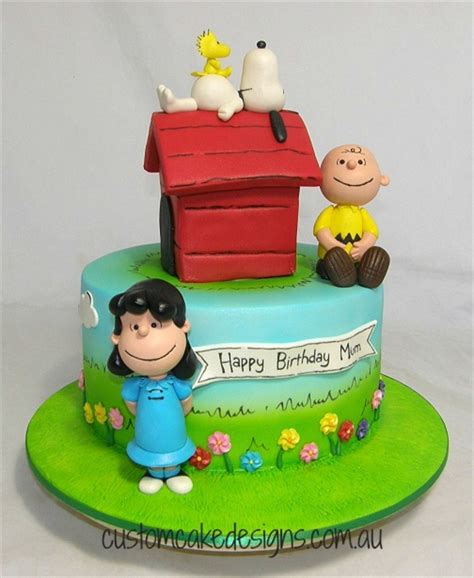 peanut cake peanuts snoopy and friends cake cakecentral
