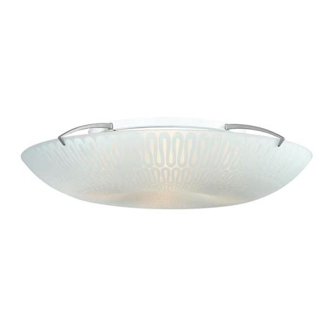 Quoizel Flush Mount Ceiling Light Shop Quoizel Paladian 19 7 In W Silver Ceiling Flush Mount Light At Lowes