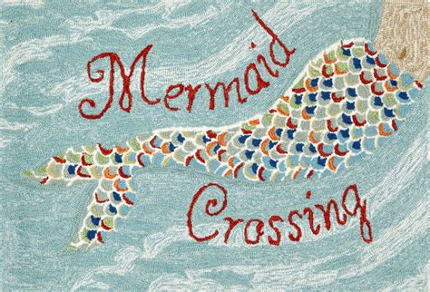Mermaid Rug front porch mermaid crossing water rug