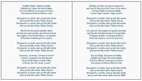 inno di mameli testo originale l inno d italia fidca