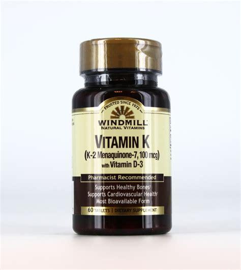 vitamin k supplement vitamin k with vitamin d 3 windmill vitamins