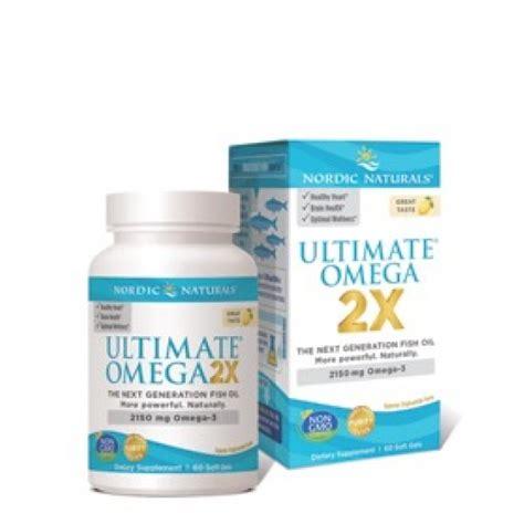 Nordic Ultimate Omega nordic naturals ultimate omega 2x 60 softgels lemon the
