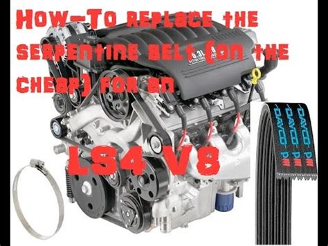 how to replace belts youtube gm ls4 v8 how to replace the serpentine belt cheap trick youtube