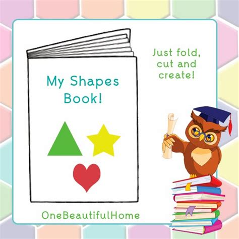 printable shapes booklet just color shapes booklet printable 187 one beautiful home
