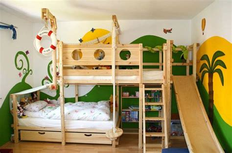 offset bunk beds offset bunk beds with slide kid stuff pinterest