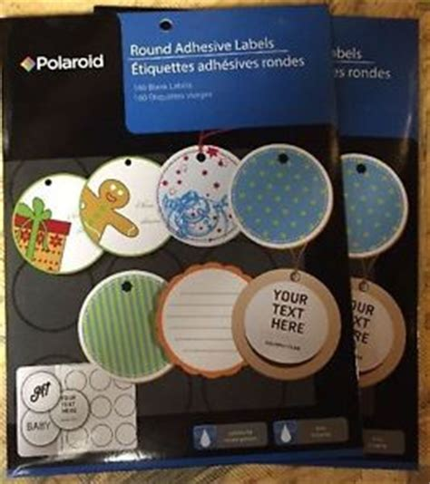 2 Quot Round Adhesive Labels Ink Jet 2 Inch Polaroid 320 Labels Ebay Polaroid Adhesive Labels Template