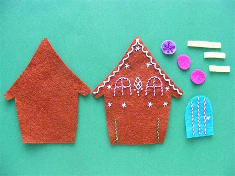 felt gingerbread pattern gingerbread a free felt christmas ornament pattern