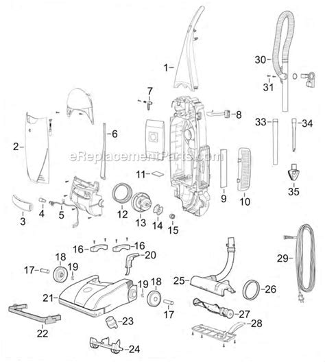bissell vacuum parts diagram bissell 71y7 parts list and diagram ereplacementparts