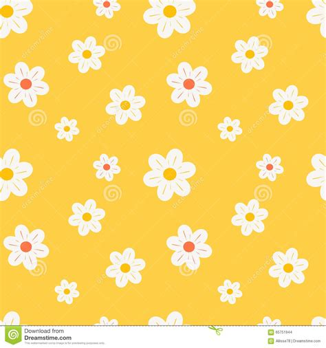 daisy background pattern vector colorful orange white and yellow daisy flowers seamless