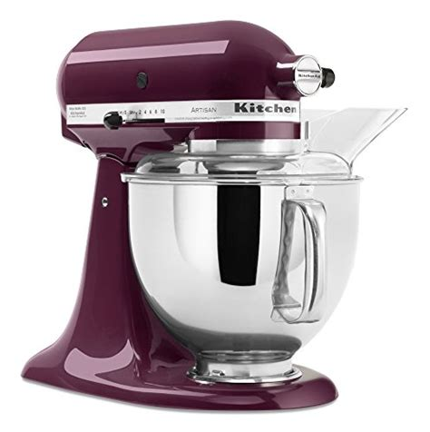 Kitchen Aid Ksm150psww Artisan Series Wpouring Shield White On White by Kitchenaid Ksm150psby Artisan Series 5 Qt Stand Mixer