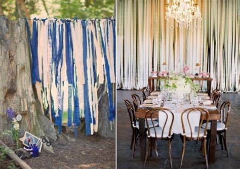 diy wedding table backdrop ideas 5 diy wedding ribbon backdrop ideas crazyforus