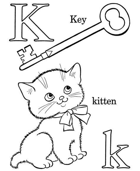 farm alphabet abc coloring page letter k educational
