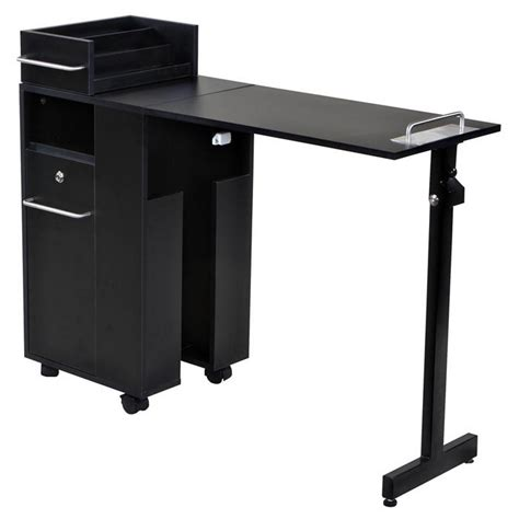 new folding black nail salon manicure table mf 01b ebay