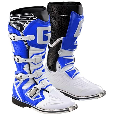 blue motocross boots gaerne g react boots white blue dirtbikexpress