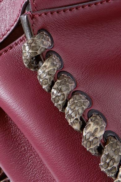 Fendi 2 Jour Snake F01 Size 27cm 1 fendi peekaboo medium snake trimmed leather tote net a porter