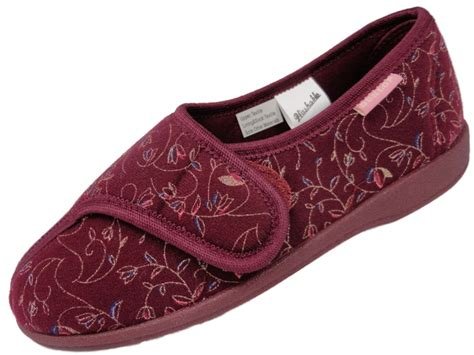 womens ankle slippers slippers womens dunlop washable orthopedic velcro