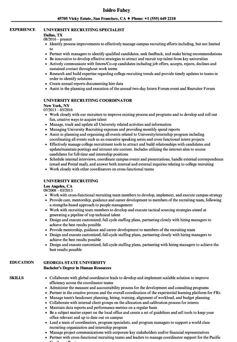 Recruiting Resume by Recruiting Resume Exles Sanitizeuv Sle