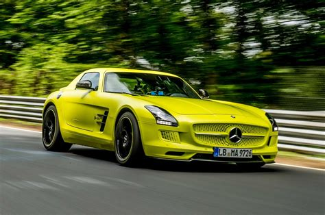 mercedes benz sls amg electric drive laps nurburgring in 7 56