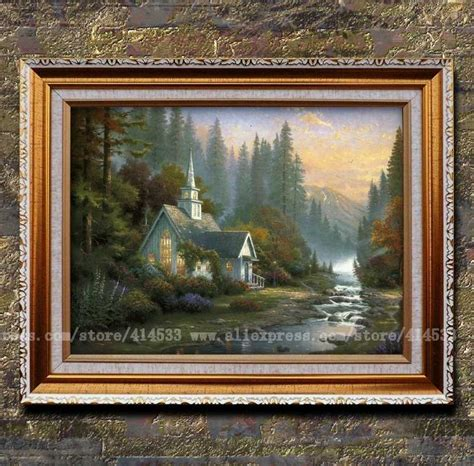 home interiors kinkade prints kinkade prints of painting the forest chapel