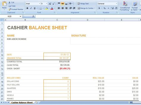balance sheet reconciliation template in excel 15 petty