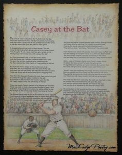 printable version of casey at the bat poems prayers and promises on pinterest famous poems