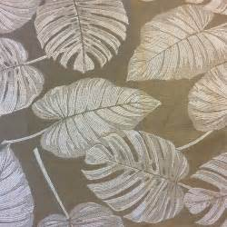 tropical home decor fabric 152fg chagne italy tropical leaves damask nature