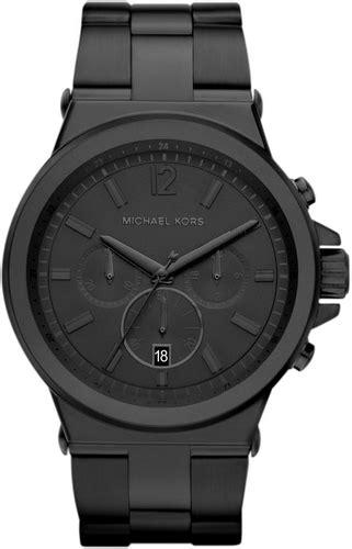 s michael kors black steel mk8279