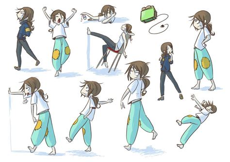 anime poses poses by doodler bunny deviantart com on deviantart